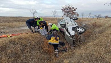 Photo of Otomobil şarampole takla attı: 1 ölü, 1 yaralı