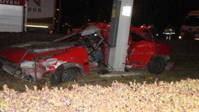 Photo of Otomobil elektrik direğine çarptı: 2 ölü 1 yaralı