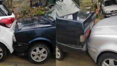 Photo of Freni boşalan kamyon park halindeki 6 aracı biçti