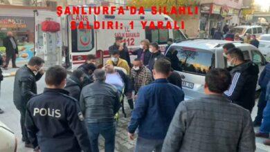Photo of Şanlıurfa'da iş yerine silahlı saldırı: 1 yaralı