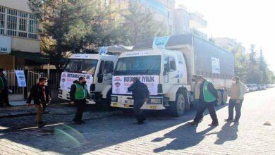 Photo of Urfa'dan Suriye'ye 2 tır yardım malzemesi gönderildi