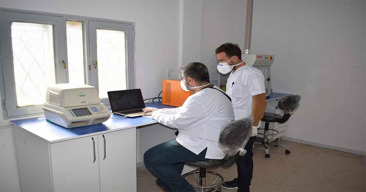 Suriye'de Corona virüs test merkezi kuruldu