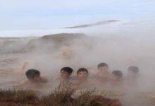 Photo of Dondurucu soğukta doğal jakuzi keyfi