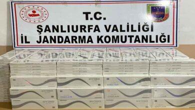 Photo of Akçakale'de 5 bin paket kaçak sigara ele geçirildi