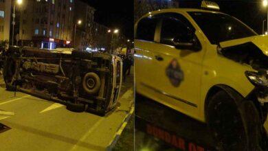 Photo of Ticari taksi ile ambulans çarpıştı: 5 yaralı
