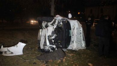 Photo of Otomobil köprüden uçtu: 3 yaralı