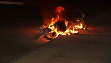 Photo of Şanlıurfa'da seyir halindeki motosiklet alev aldı