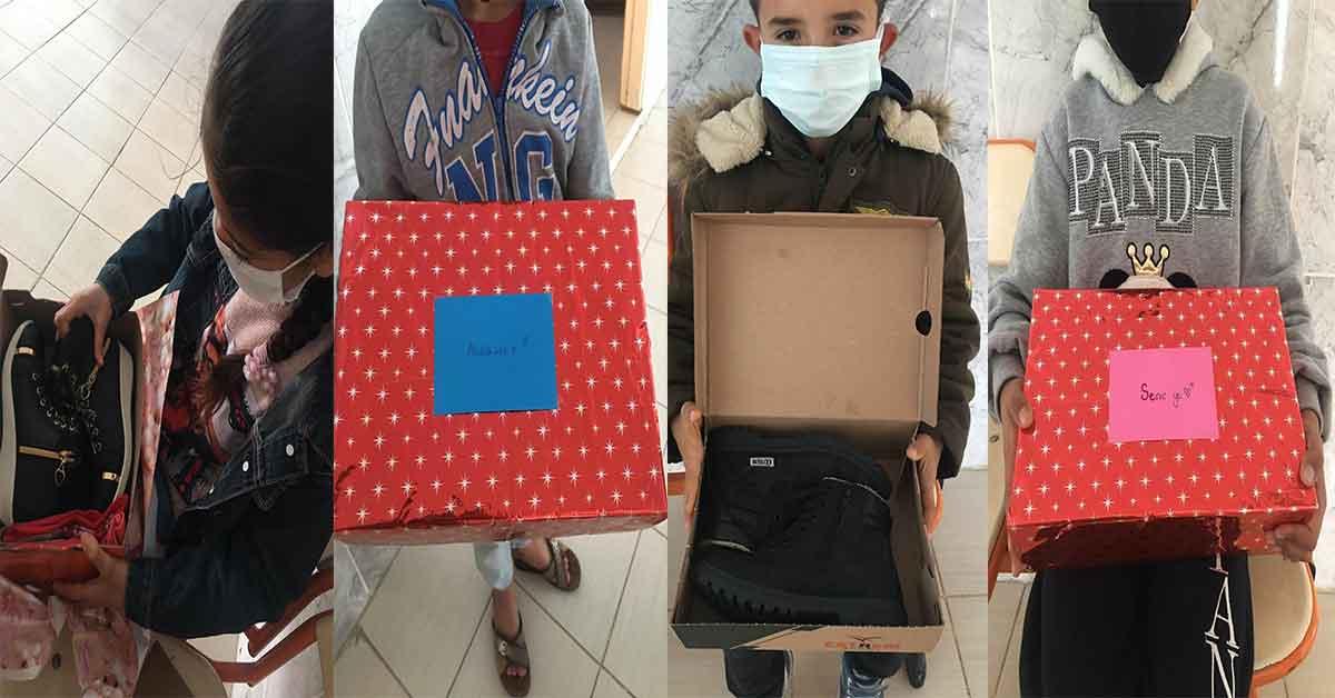 Gaziantep'Ten Şanlıurfa'lı öğrencilere ayakkabı ve kitap desteği