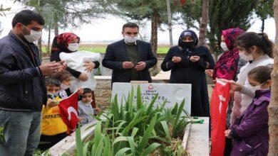 Photo of Urfa'da Haberi alan şehidin ailesi mezarlığa koştu