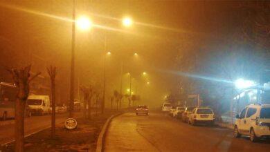 Photo of Şanlıurfa'da boş sokaklar sisle kaplandı