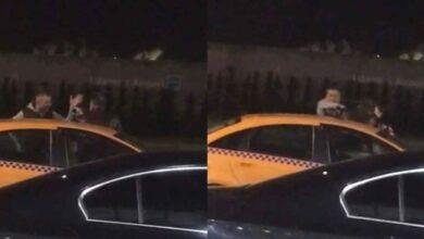 """Photo of Taksiciye """"yolu uzattın"""" tokadı kamerada"""
