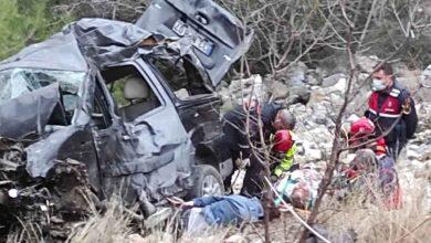 Photo of Araç şarampole yuvarlandı: 1 ölü, 4 yaralı