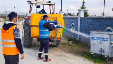 Photo of Ceylanpınar'da haşereler için ilaçlama çalışması