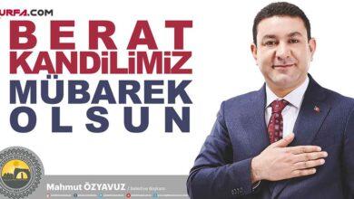Photo of Başkan Özyavuz'dan Berat kandili mesajı