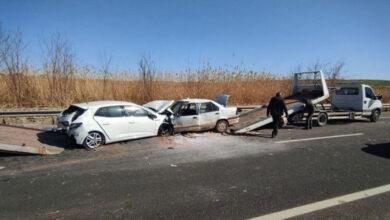 Photo of Şanlıurfa'da 2 Otomobil Kafa Kafaya Çarpıştı