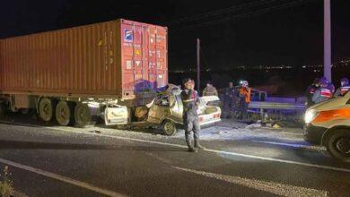 Photo of Otomobil tıra çarptı: 1 ölü