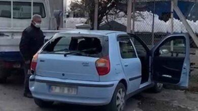 Photo of Tır park halindeki aracı biçti