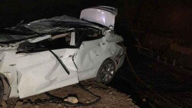 Photo of Korkunç kazada otomobil fabrikanın inşaatına uçtu 2 ölü