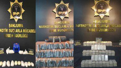 Photo of Şanlıurfa'da Onlarca Kilo Uyuşturucu Ele Geçirildi