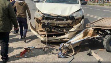 Photo of Urfa'da kamyonet at arabasıyla çarpıştı: 1 yaralı