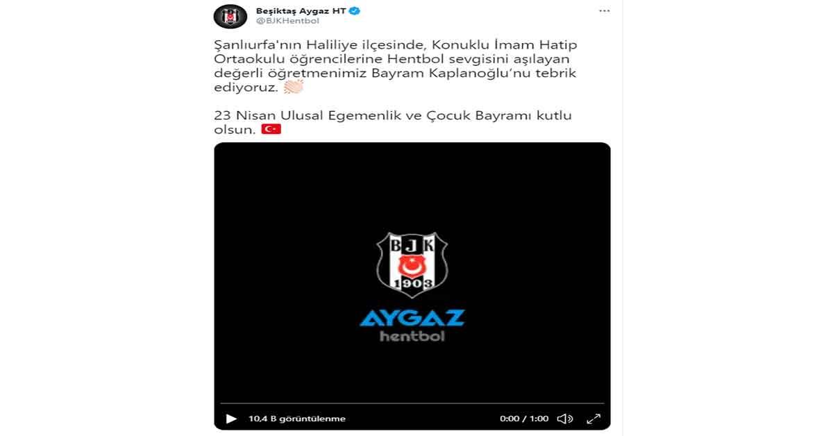 Beşiktaş'tan Urfa paylaşımı