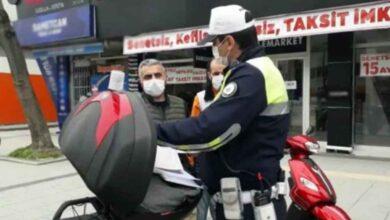 Photo of Motosikleti ile izinsiz sokağa çıktı, 5 ayrı ceza yedi