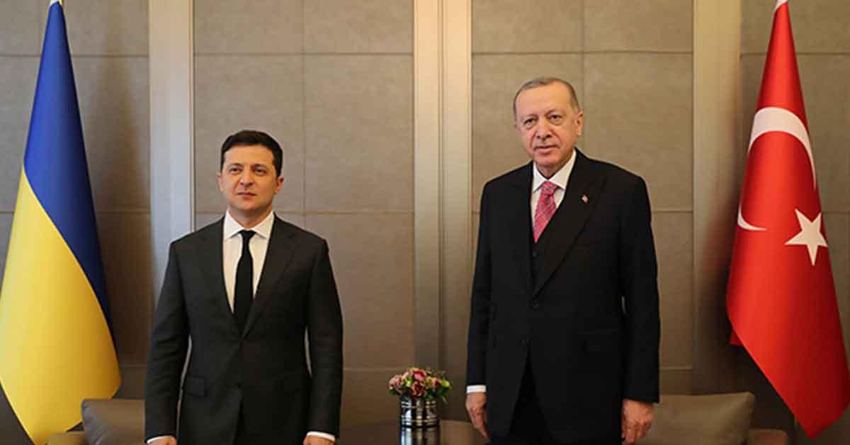 Cumhurbaşkanı Erdoğan ile Zelenskiy ortak açıklama yapıyor