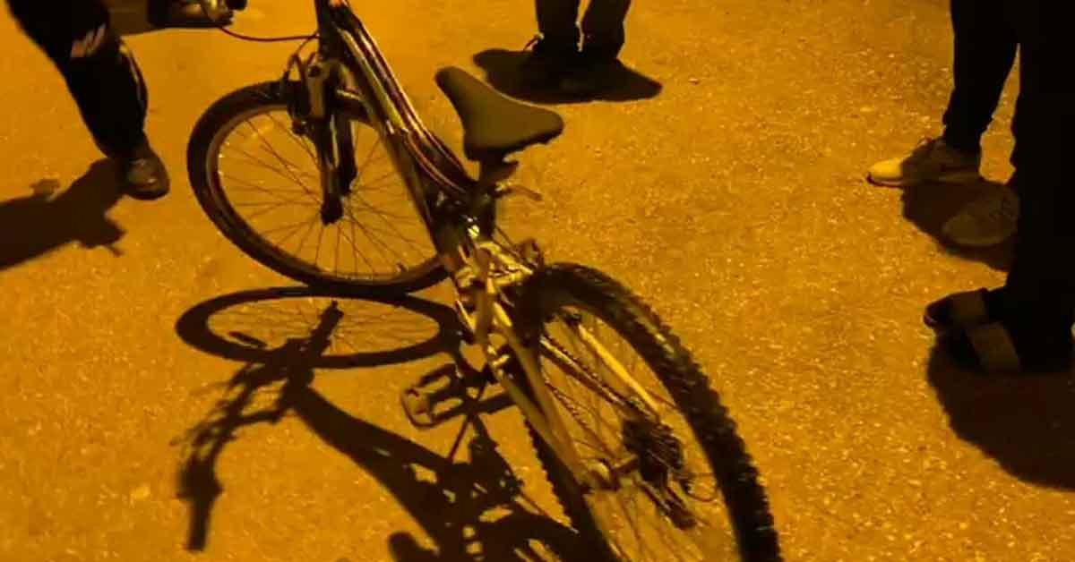 Bisiklet ile olay yerine gelen genç kız yakalandı