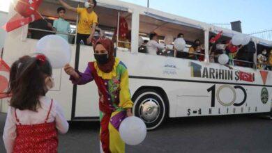 Photo of Palyaçolar, Çocuklar için Şanlıurfa Sokaklarını Gezdi