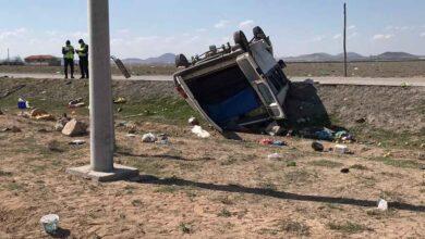 Photo of Tarım işçilerini taşıyan minibüs devrildi: 2 ölü, 6 yaralı