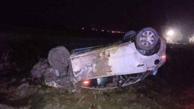 Photo of Kontrolden çıkan otomobil tarlaya uçtu: 1 yaralı