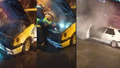 Photo of Şanlıurfa'da Park halindeki otomobil alev alev yandı