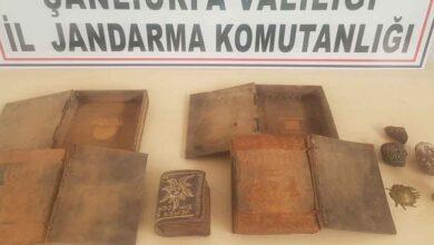 Photo of Urfa'da kitabeleri ele geçirdi