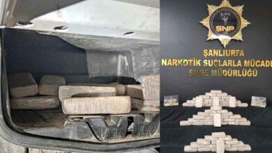 Photo of Urfa'da 38 kilo 850 gram eroin ele geçirildi