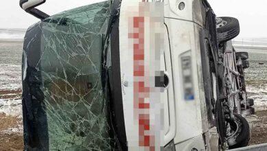 Photo of Yolcu otobüsü devrildi: 14 yaralı