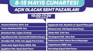 Photo of Eyyübiye'de açık olacak semt pazarları belirlendi