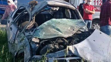 Photo of Otomobil kamyonetle çarpıştı: 2 yaralı