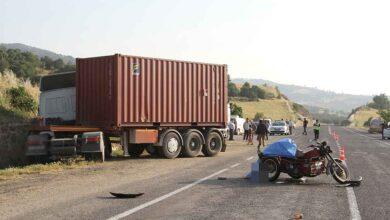 Photo of Tır, sepetli motosiklete çarptı: 1 ölü, 1 yaralı