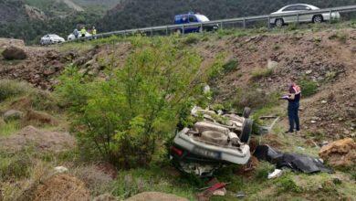 Photo of Uçuruma devrilen otomobildeki sürücü öldü