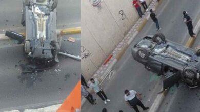Photo of Diyarbakır-Urfa yolu üzerinde iki araç takla attı