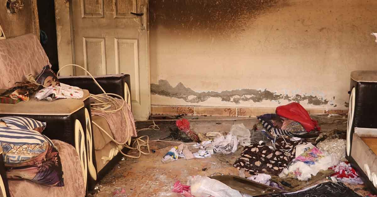 Urfa'da kanser hastası kadının evi kundaklandı