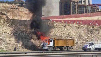 Photo of Urfa'da Seyir Halindeki Kamyon Alev Aldı