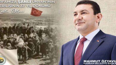 Photo of Başkan Özyavuz'dan Şanlı Unvanı Mesajı