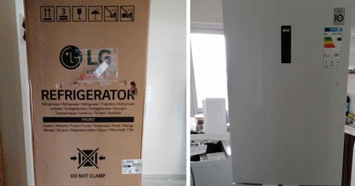 Urfa'lının internetten aldığı buzdolabı hasarlı çıktı