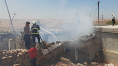 Photo of Şanlıurfa kırsalında mesken yangını