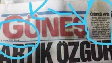 Photo of Güneş Gazetesi'nin Yıllar Önceki Sayısında Korkunç Detay