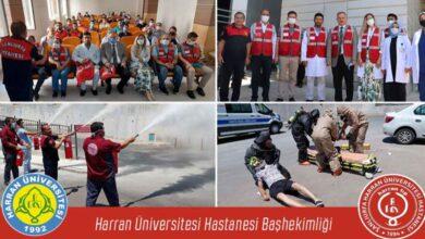 Photo of HRÜ' Hastanesinde gerçeği aratmayan yangın tatbikatı