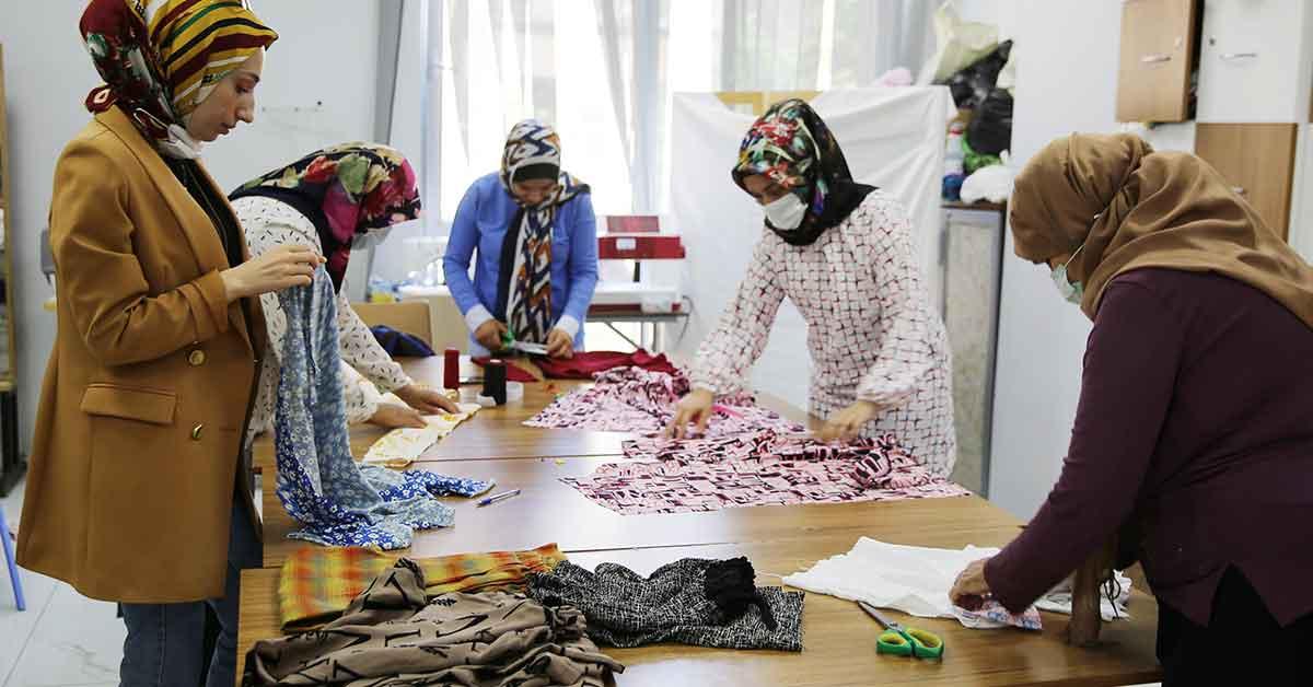 Kadınlar, Haliliye belediyesi ile meslek sahibi oluyor