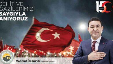 Photo of Başkan Özyavuz'dan 15 Temmuz Mesajı