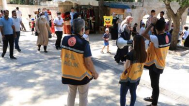 Photo of Şanlıurfa'da megafonla aşı çağrısı yaptılar